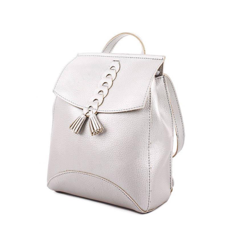 3a97699b6fb6 Молодежный сумка-рюкзак WeLassie 45411 с косичкой, серебристый - MegaHertz  — Интернет магазин электроники