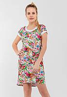 Летнее женское платье с удлиненной спинкой и цветочным принтом 90175/1, фото 1