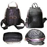 Рюкзак молодежный МЕРЦАЮЩИЙ ПАРИЖ, 24*23*10,5 см., фото 2