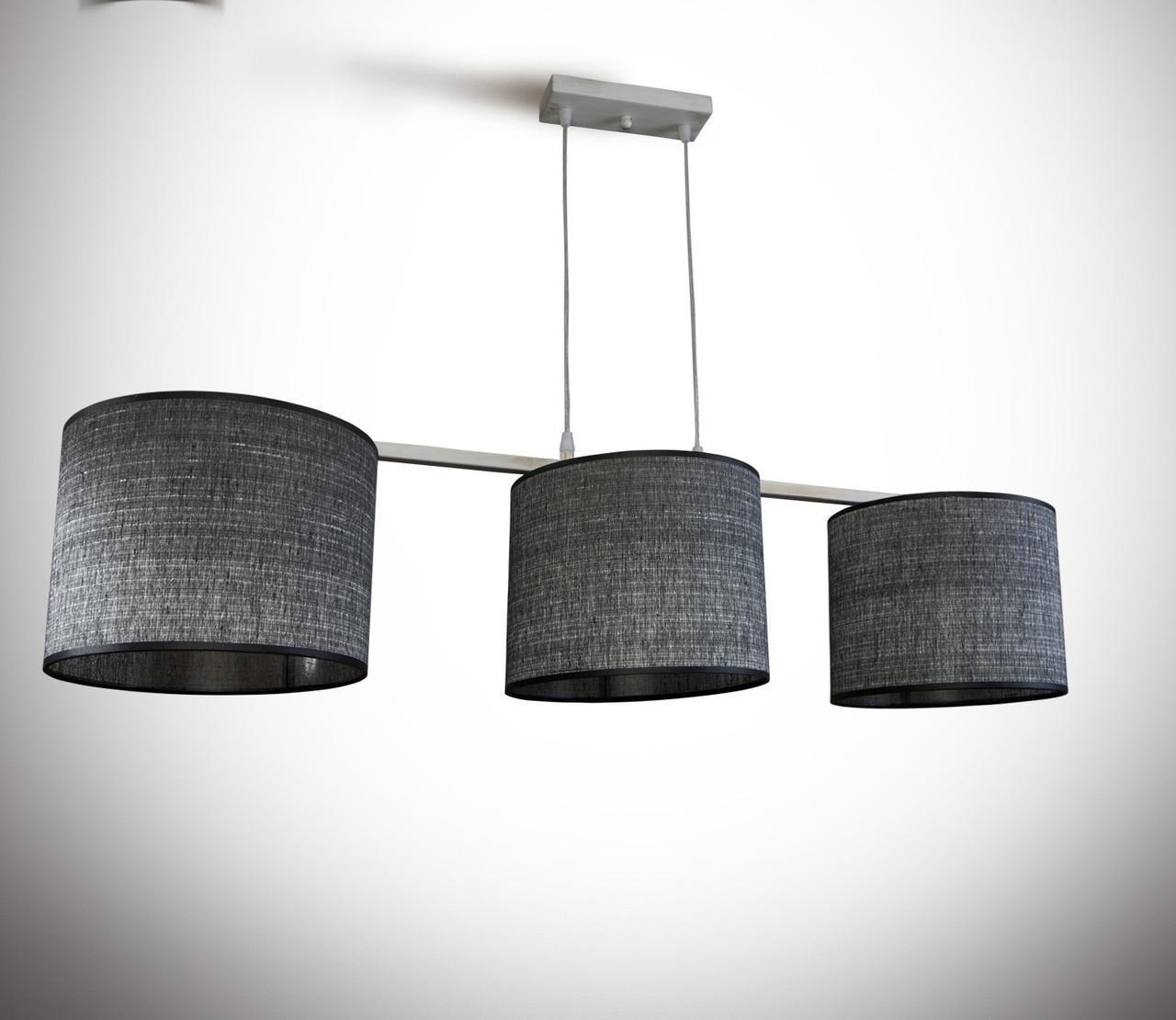 Люстра 3-х ламповая серая металлическая для спальни, кухни, детской 19333-8