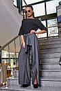 Женская элегантная чёрная блузка размеры от 42 до 48, классическая, офисная, праздничная, гламурная, фото 3