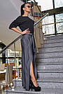 Женская элегантная чёрная блузка размеры от 42 до 48, классическая, офисная, праздничная, гламурная, фото 6