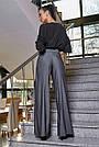 Женская элегантная чёрная блузка размеры от 42 до 48, классическая, офисная, праздничная, гламурная, фото 7