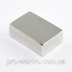 Неодимовий магніт прямокутник 30х20х10 мм