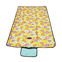 🔝 Пляжный коврик, цвет - желтый (145 х 80 см), коврик для пикника, подстилка для пляжа | 🎁%🚚