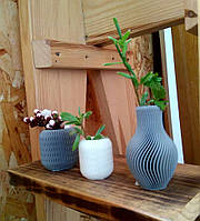 Декоративная ваза из пластика Seppia standart серый 6.5х4 см, фото 1