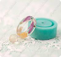 Силиконовый молд на кольцо из подборки МК15 (15,75/ 16,25/ 17 ) и мини-шарик без усечения на 8мм.