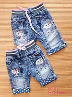 Шорты на девочку Мышка и облочко, джинс, р. 9-18 мес