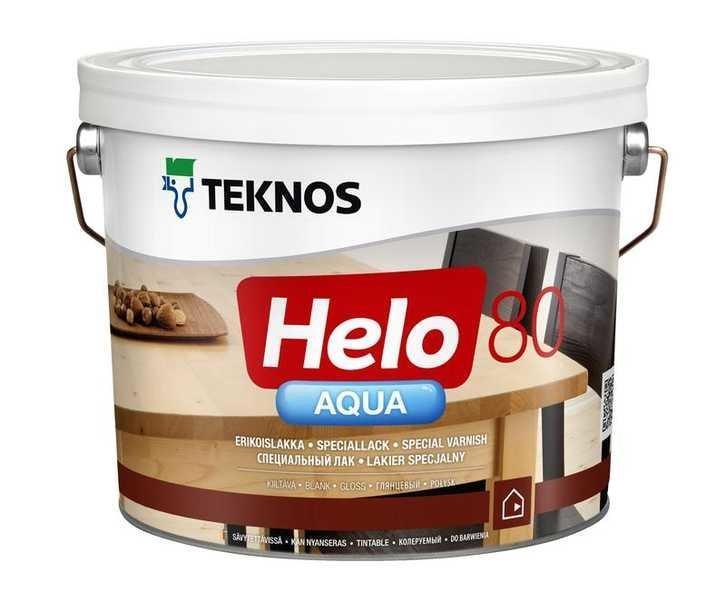 Лак водорозчинний універсальний Teknos Helo Aqua 80 9 л