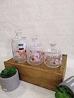 """Набор  стеклянных банок """"Luminarc"""" для сыпучих продуктов 3 шт"""
