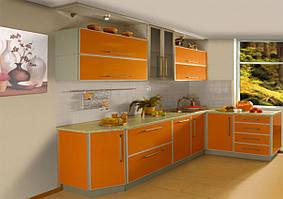 Кухня пластик в профілі №2