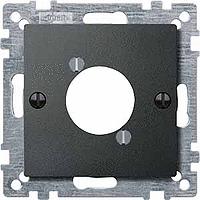 Накладка для аудио-штекера XLR, антрацит Shneider Merten (MTN468914), фото 1