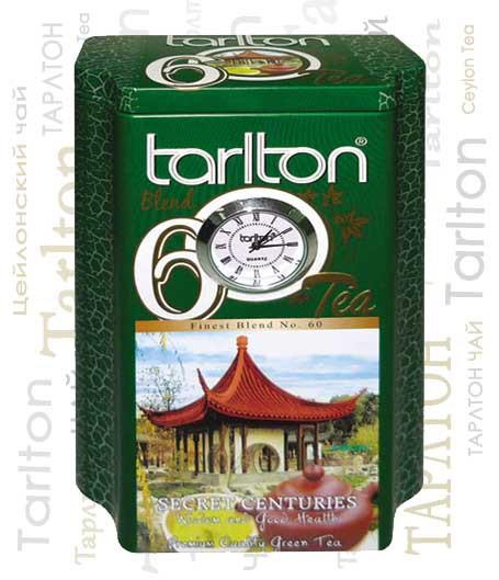 Чай зеленый крупнолистовой Тарлтон OPA Secret Centuries 200 г в жестяной банке с часами