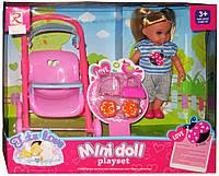 Кукла Mini Doll 8238 с коляской и аксессуарами