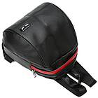 Рюкзак женский PU чёрный кожзам в форме Капля с красочно оформленным замком, фото 5