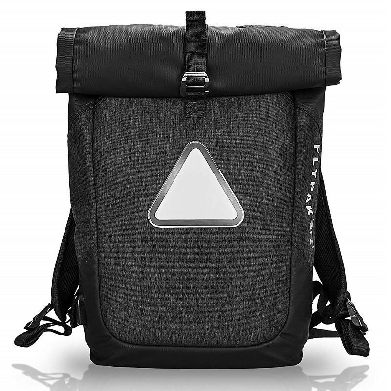 Смарт рюкзак FLYPAK с настраиваемой LED подсветкой, USB портом, отделением для ноутбука, влагозащищенный, 30л