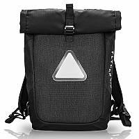 Рюкзак роллтоп FLYPAK с настраиваемой LED подсветкой, USB порт, отделение для ноутбука, влагозащищенный, 30л