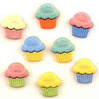 Пуговички детские Cupcakes Buttons Galore 4023