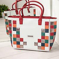 49697584f77a Женская вместительная летняя сумка с ярким дизайном, в белом цвете, из  искусственной кожи