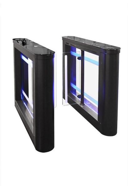 Турникет Sweeper-1 крашеный, цвет RAL 9005, столешницы - черное стекло, правая + левая стойки