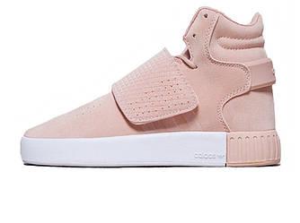 Женские кроссовки Adidas Tubular Invader Strap Pink (Реплика ААА+)