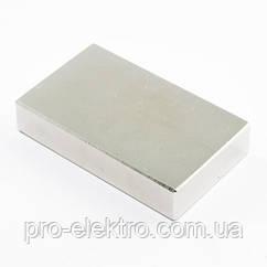 Неодимовый магнит прямоугольник 50х30х10 мм