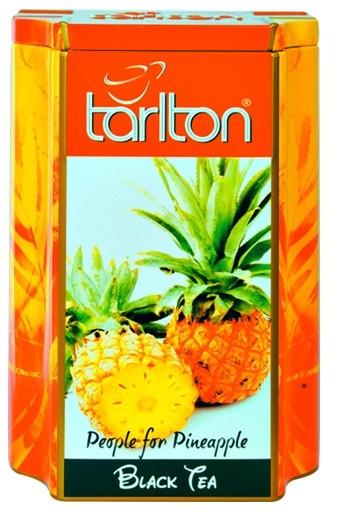 Чай черный листовой Тарлтон People for Pineapple с кусочками ананаса, шафраном, лепестками цветов 200 г ж/б