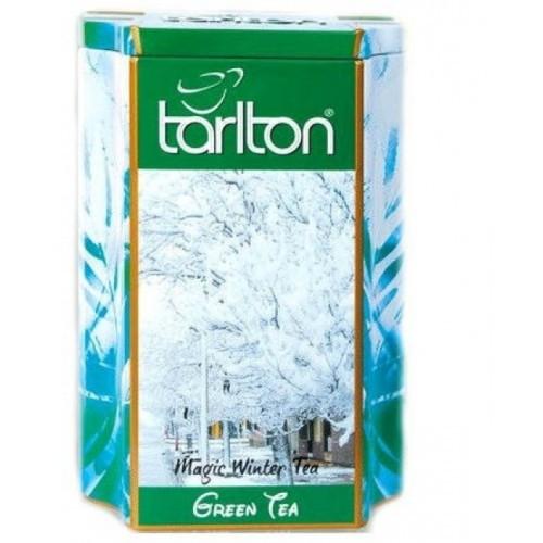 Чай зеленый листовой Тарлтон Magic Winter Tea с ароматом зимнего вина, ягоды годжи, бутоны цветов 200 г ж/б
