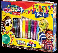 """Подарочный набор красок для лица """"Party set"""", Colorino"""