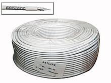 RG-58 Satline білий (1*0.81 Cu+96*0.1 Cu) 100м