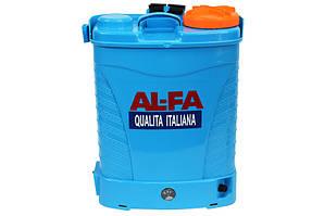 Опрыскиватель аккумуляторный AL-FA 15 ампер (16 л) (ITALIYA) - Садовий опрыскуватель