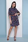 Модное платье-рубашка с цепями Сучасна сукня-сорочка з ланцюгами, фото 3