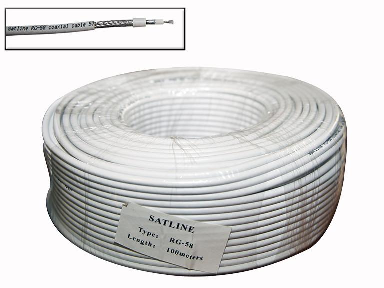 RG-58 Satline белый (19*0.81Cu+96*0.1Cu) 100м