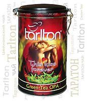 Чай зеленый листовой Тарлтон This Kiss Forever с ароматом саусепа, лепестками хризантемы и бутонами роз 300 г ж/б