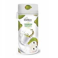 Чай зеленый листовой Тарлтон Soursop с кусочками и ароматом саусепа 75 г ж/б с замком-молнией