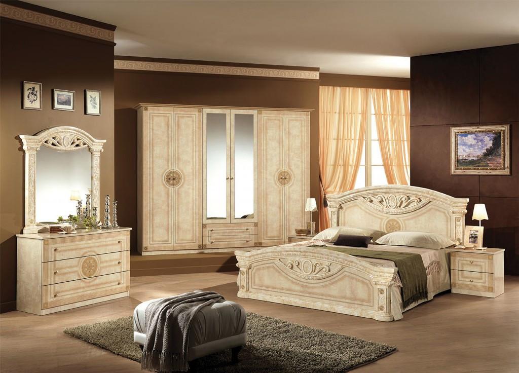 Комплект в спальню 6Д Рома клен Мебель-сервис