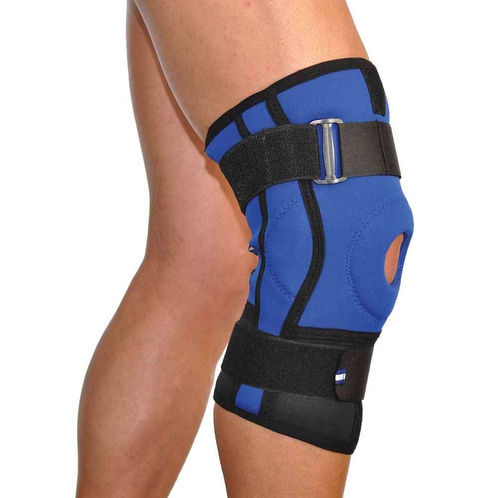 Бандаж коленного сустава с ребрами жесткости неопреновый Алком 4022, р.5, р.6