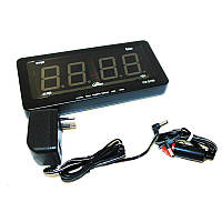 Автомобильные электронные настенно-настольные светодиодные часы Caixing CX 2159 - чёрный корпус