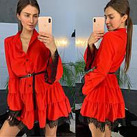 Платье женское нежное с пышной юбкой и кружевом разные цвета Smld3129, фото 1