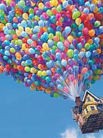 Алмазная вышивка на подрамнике Полет на воздушных шарах 30 х 40 см (арт. TN068)