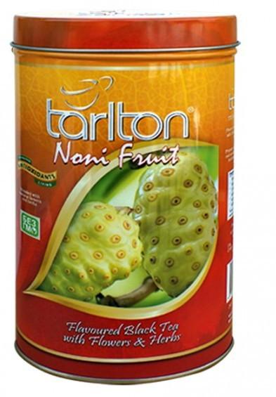 Чай черный Тарлтон Noni Fruit с кусочками фрукта нони, манго, лепестками шафрана и жасмина 100 г ж/б