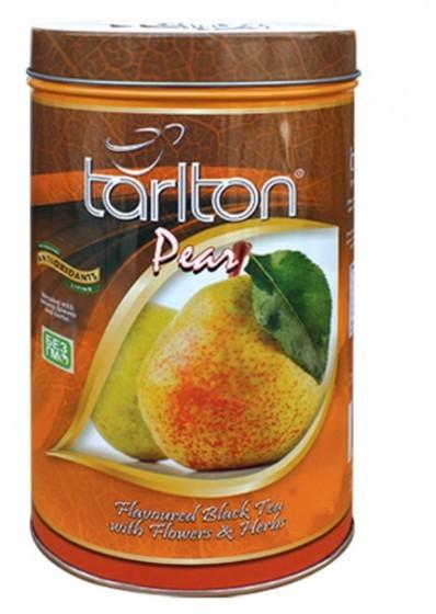 Чай черный листовой Тарлтон Pear с кусочками груши, лепестками шафрана, календулы и розмарина 100 г ж/б