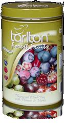 Чай черный Тарлтон Forest Fruits с ароматом клюквы и голубики, лепестками роз, шафрана и жасмина 100 г ж/б
