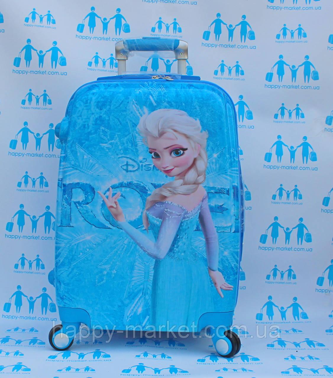 Чемодан дорожный детский с кодовым замком 52 см ручная кладь Холодное Сердце Frozen двусторонняя 11961-1