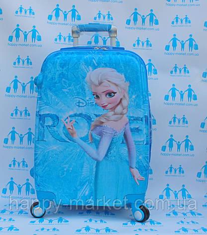 Чемодан дорожный детский с кодовым замком 52 см ручная кладь Холодное Сердце Frozen двусторонняя 11961-1, фото 2