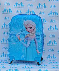 Чемодан дорожный детский с кодовым замком 52 см ручная кладь Холодное Сердце Frozen двусторонняя 11961-1, фото 3