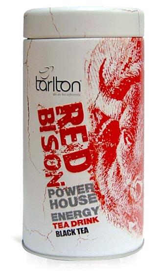 Чай черный листовой Тарлтон Red Bison 100 г в жестяной банке