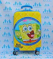Чемодан детский на 4 колесах+замок L 20 Губка Боб 55 см 420-19-SP