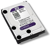 Жесткий диск HDD  2TB WD IntelliPower SATA3 64Mb Purple