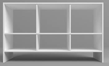 Надставка Delta DL-411 (1200х350х725мм) Белый базовый ТМ АМФ, фото 2
